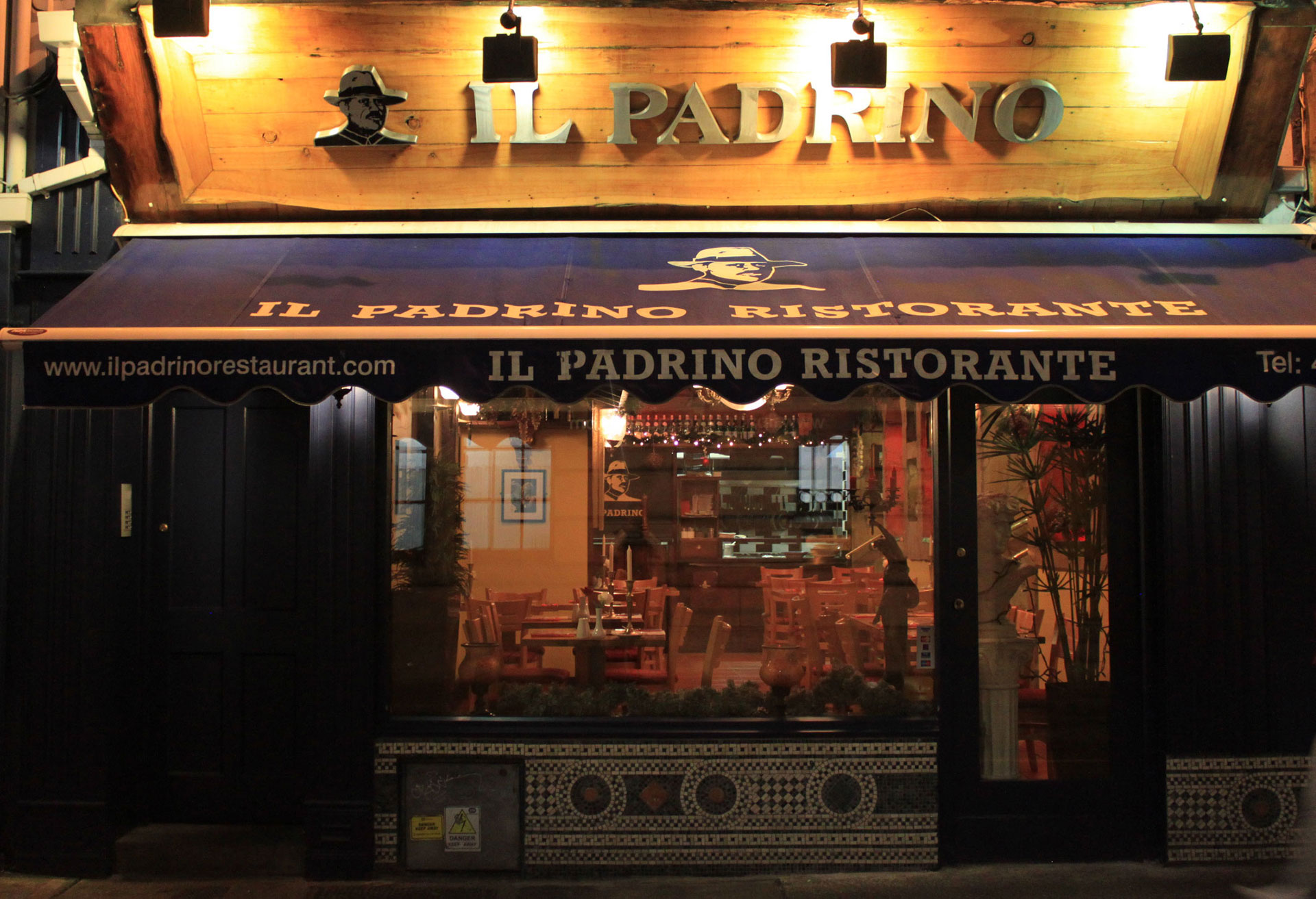 Front of IlPadrino Restaurant